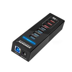 Kingwin KW-HUB-7U3 4 Port USB3.0 3 Port USB3.0 IQ Charging Port Hub