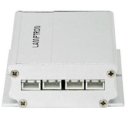 Lamptron PS-IVCFL4SL 4-Port CCFL Inverter Silver Aluminum Housing