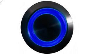 LAMPTRON 16mm Vandal Resistant Illuminated (Blue) Momentary Switch