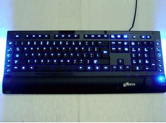Logisys KB208BK Blue/Red Character-Illuminated keyboard