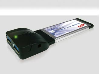 Mukii TIP-PU301CB 2Port USB3.0 Express Card Adapter