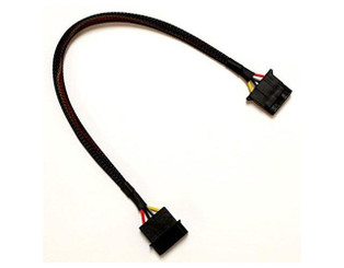 12inch 4Pin Extension Cable w/ Factory Black Sleeved