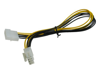 14inch Molex 4 Pin to ATX 8 Pin Cable