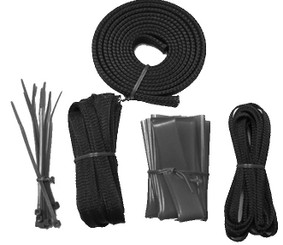 Okgear Black Cable Sleeving Kit