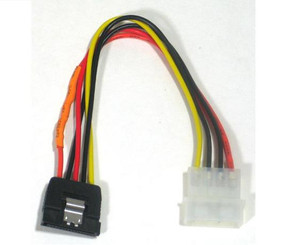 18inch 4Pin Molex to SATA 15Pin Power Cable