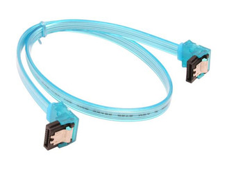 18inch SATA3.0 6Gbs cable ,right to right, UV blue, metal latch