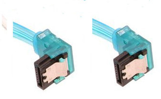 10inch SATA3.0 6Gbs cable,right to right, UV blue, metal latch