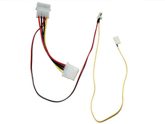 FC343-12 3 pin to 4 pin adapter cable with rpm sensor