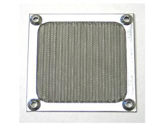 GALAXY 120mm Anodized aluminum fan filter (Silver)