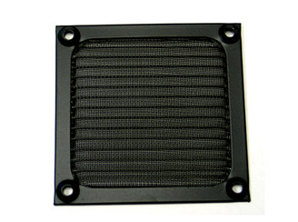 GALAXY 120mm Anodized aluminum fan filter (Black)