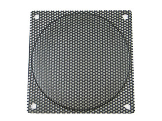 120mm Steel Mesh Fan Filter (Guard), Black, Medium Hole