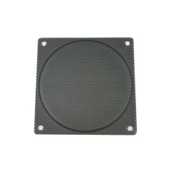 140mm Steel Mesh Fan Filter (Guard), Black - Small Hole