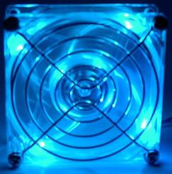 120mm 4 BLUE LED CASE FAN 3Pin W/ FAN GUARD