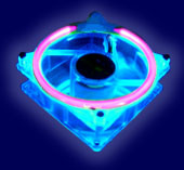 80MM UV BLUE FAN W/ UV CCFL FAN GRILL