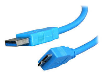 6ft USB 3.0 A male to Micro B male cable for Samsung Galaxy S5/Note 3, Blue