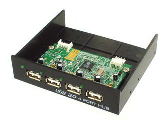 UIH-324 Black 3.5inch Bay USB2.0 4Port Hub