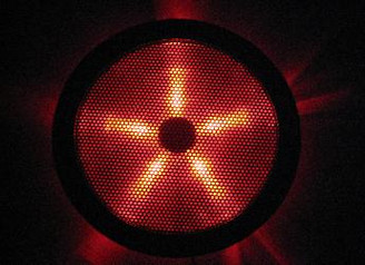 Rexflo 250mm Silent Case Fan w/ Red LEDs