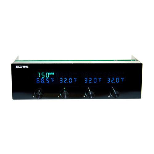 Scythe Kaze Chrono KM07-BK LCD Fan Controller black 4Ch 12W//Ch