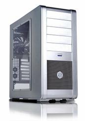Silverstone SST-FT01S-W (Silver w/ Window) Fortress Uni-body Mid Tower Case