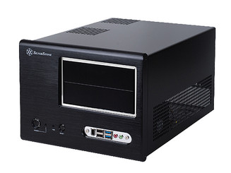 Silverstone SG01B-F-USB3.0  Black Small Form Factor Case (No PS)