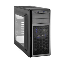 Silverstone SST-PS11B-W (Mesh front panel, steel body) ATX/MATX Black Case
