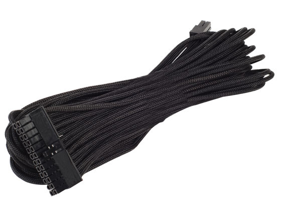 Ext Cable Silverstone SST-PP06B-EPS75 750mm Black Sleeved EPS//ATX12V 8pin 4+4