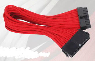 Silverstone SST-PP07-MBR 24Pin Power Extension Cable, Red Sleeved