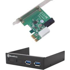 Silverstone SST-EC03B-P (Black)  PCI-Express/USB3.0 Card w/ USB3.0 Front I/O Panel
