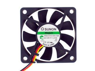 Sunon MB60101V2-000U-G99 60x60x10mm Vapo Bearing Fan, 3Pin