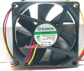 Sunon KDE1207PHV3 70x70x15mm MagLev Cooling Fan, 3Pin