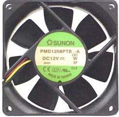 Sunon PMD1208PTB1 80x80x25mm Dual Ball Bearing, 3Pin