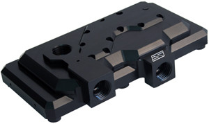 Swiftech MCP35X2-H-BK (Black) Dual Pump Housing for MCP35 Series Pump