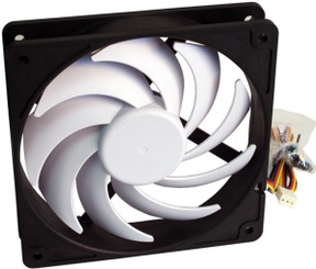 Swiftech HELIX-120-BW HELIX 9-Blade Z-Bearing 120MM FAN, 3Pin