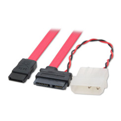 SYBA CL-CAB40042 37inch/6inch MiniSATA Data/Power Molex Power Adapter