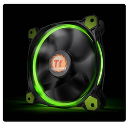 Thermaltake CL-F038-PL12GR-A Riing 12 High Static Pressure Green LED Radiator Fan