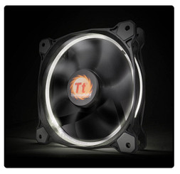 Thermaltake CL-F038-PL12WT-A Riing 12 High Static Pressure White LED Radiator Fan