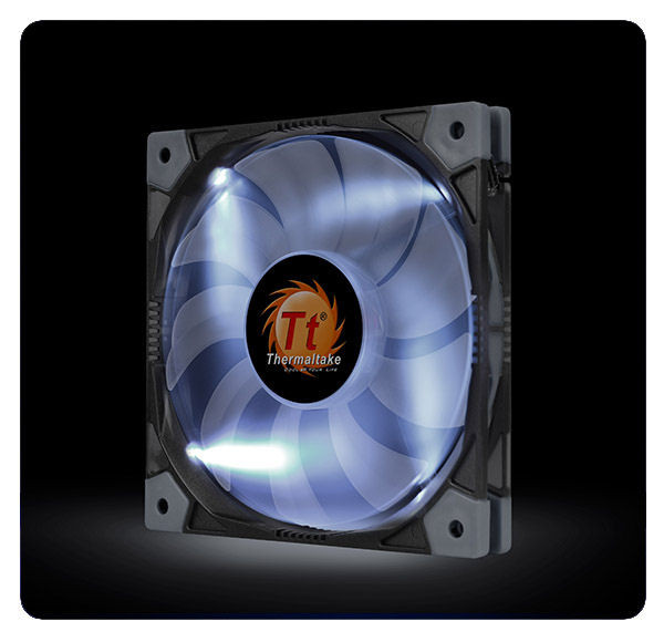 Thermaltake Cl F035 Pl12wt A Luna 12 Slim Led White Fan Aerocooler