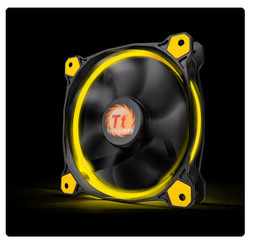 Thermaltake CL-F038-PL12YL-A Riing 12 High Static Pressure Yellow LED Radiator Fan