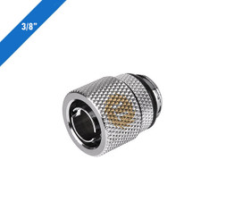 Thermaltake CL-W033-CA00SL-A Pacific 3/8in ID x 1/2in OD Compression � Chrome