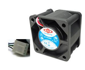 Top Motor DF124020BH-3G 40x20mm 2 Ball Bearing Fan,3pin