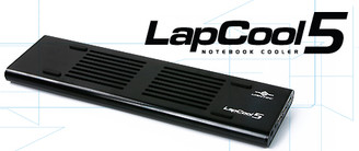 Vantec LapCool5 LPC-501-BK Notebook Cooler w/ 3 USB 2.0 Port (Black)