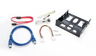 Syba SY-HUB50041 USB 3.0 Firewire eSATA Multi I/O Front Panel for 3.5in/5.25in Bay