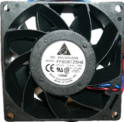 Delta FFB0812SHE 80x38mm High Output Fan, 4Pin