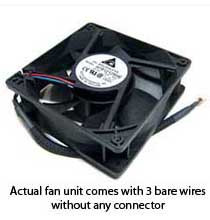 Delta AFB1212SHE-F00 120x38mm Extreme Hi Fan, Bare Wires