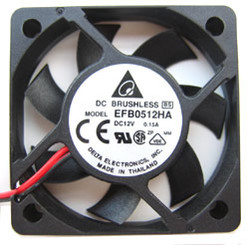 Delta 50x50x10mm DC 12V Ball Bearing Fan 5500 RPM EFB0512HA