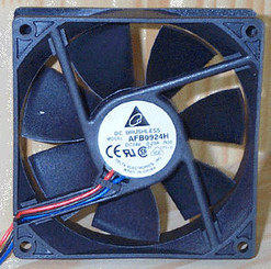 Delta AFB0924H-F00 24V DC 92x25.4mm Fan, 3Pin, RPM Sensor