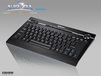 Enemrax Aurora Micro 2.4GHZ Wireless KB008W Keyboard w/ Laser Trackball