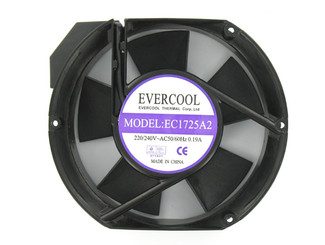 Evercool AC 220V 172x150x51.5mm Aluminum Fan EC1725A2HBT