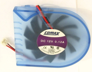 Comax DC 12V 0.12A Mobile Rack Fan w/ 2Pin Connector