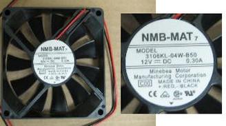 NMB-MAT 80x15mm Thin (3106KL-04W-B50-C00) Fan, 3Pin